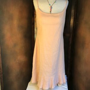 Elie Tahari Blush Linen Dress NEW WITH TAGS 12